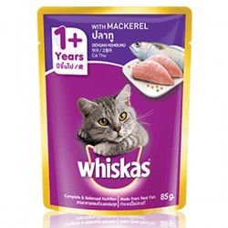 WHISKAS MACKEREL 85G
