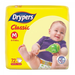 DRYPERS CLASSIC MEDIUM 72PCS