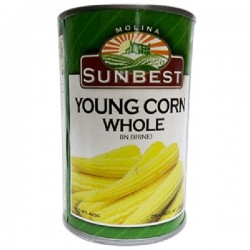 SUNBEST YOUNG CORN WHOLE 425G