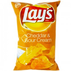 LAY'S CHEDDAR & SOUR CREAM...
